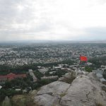 Osh city view from Sulaiman Mountain